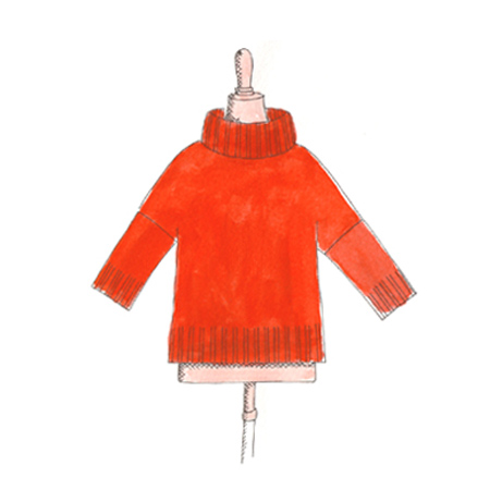 Le Pull Poncho 8 fils