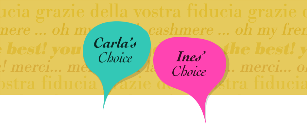 Carla's and Ines' choice